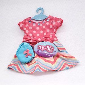 Doll Clothes My Life Pink Wrap Dress Outfit